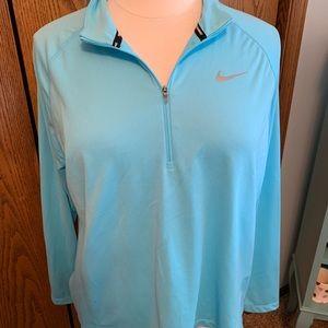 Nike 3/4 zip Dri-Fit Shirt, women's. Like new!